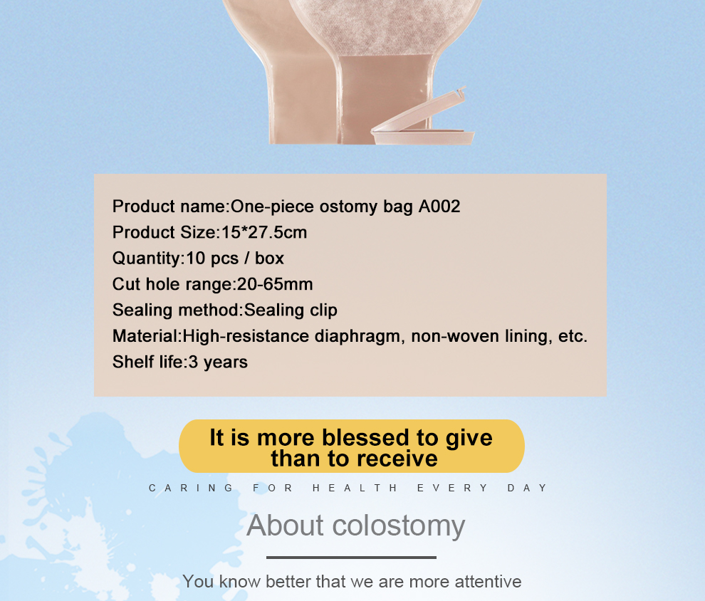 Colostomy Bag Surgery One-Piece Stoma Disposal Colostomy Bag Care