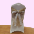 Eco-Friendly Natural Color Jute Cloth Burlap Woven Fabric Chair Cover Sashes With Lace Decoration For Wedding Banquet Party Use