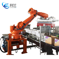 Safety and reliability automatic machine case packer for drink bottle in packing line