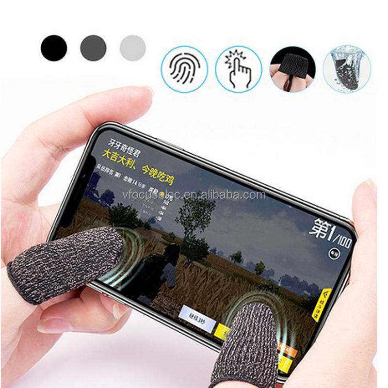 Mobile Game Controller Jari Lengan Set Anti-Keringat Penuh Layar Sentuh Sensitif Menembak Tujuan Joystick Jari