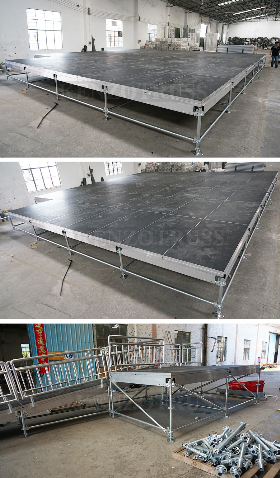 Ultra High Bearing Capacity Layer Truss Stage Steel Frame Stage for Sale