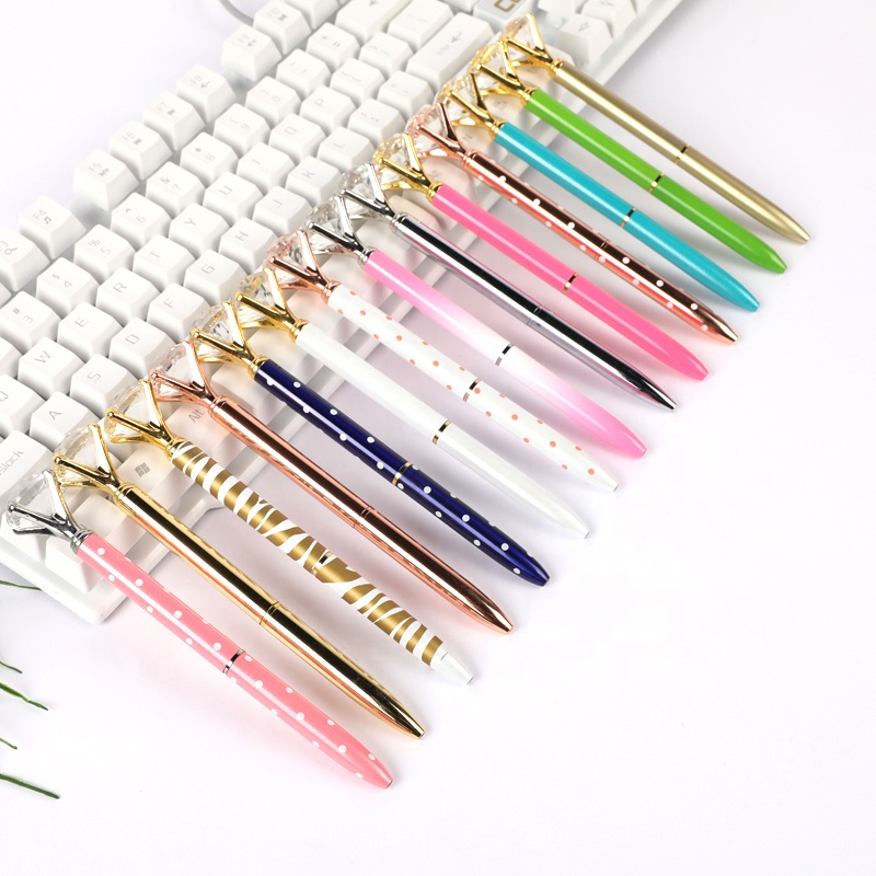 Promotion Big Top Diamond <strong>Pen</strong> Multi <strong>Color</strong> Diamond Crystal <strong>Ballpoint</strong> Ball <strong>Pen</strong> For Wedding Gift