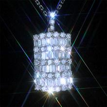 Huitan, модное ожерелье с подвеской, для девушек, для влюбленных, роскошный кристалл, циркон, деликатный дизайн, вечерние аксессуары, высокое ка...(Китай)