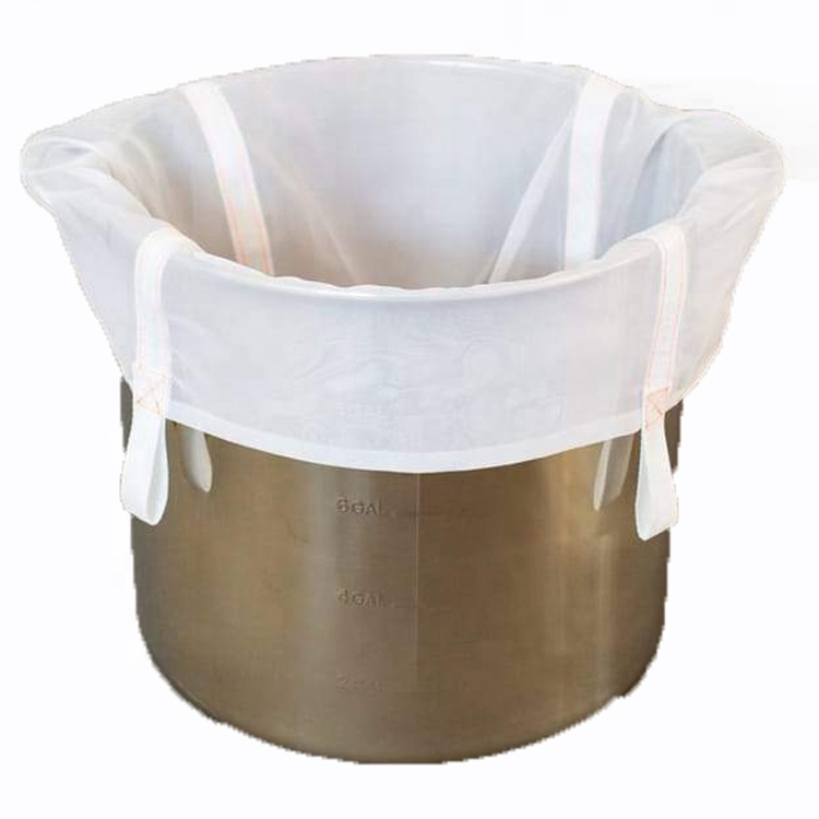 high quality wholesale 40mesh/200 micron fine nylon net liquid filter bag