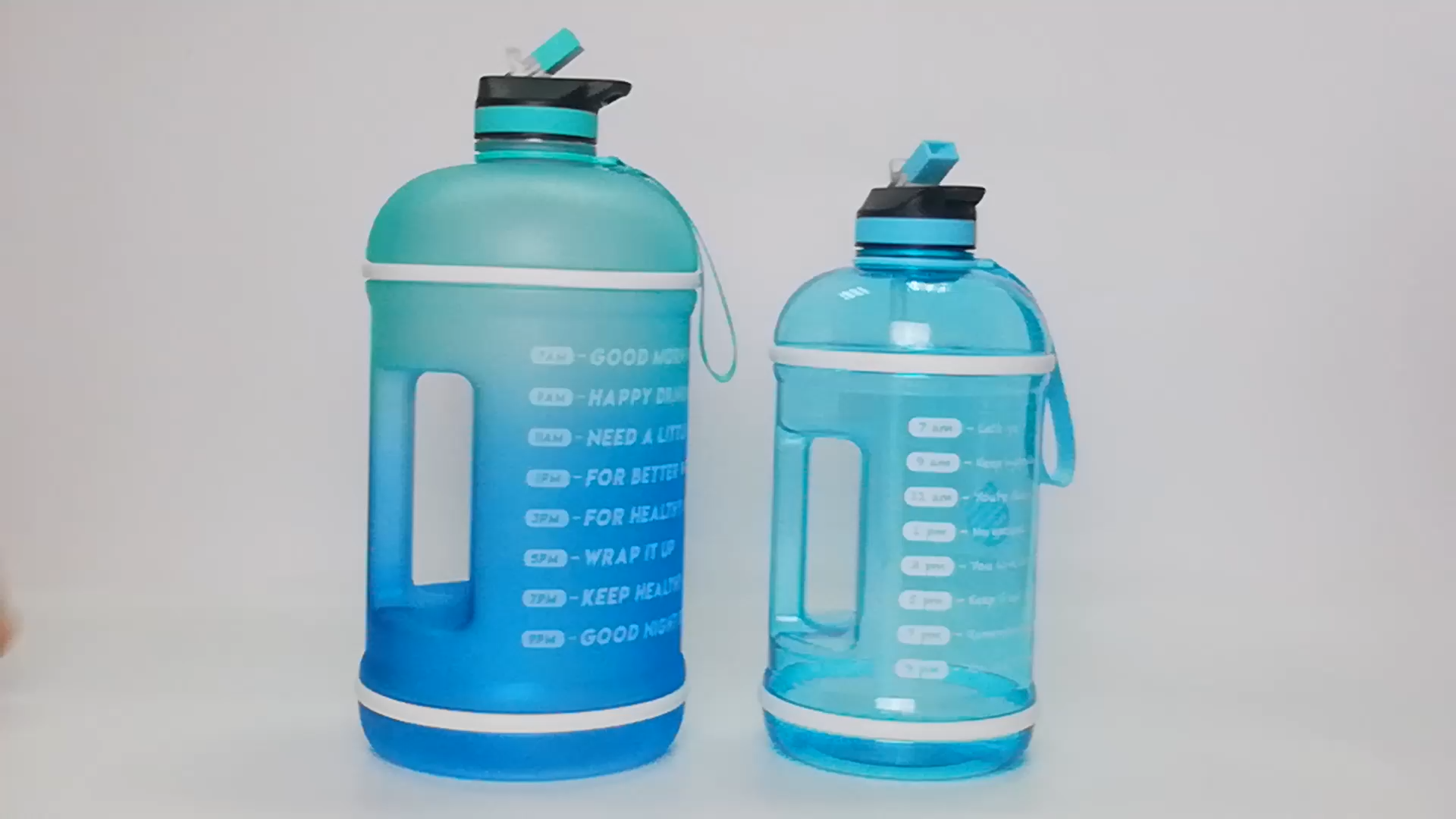 Большой 1 галлон бутылка для воды с соломенной крышкой, не содержит Бисфенол А воды из твердого английского фарфора увлажнение с мотивационной маркером времени, будильник, идеально подходит для занятий в спортзале