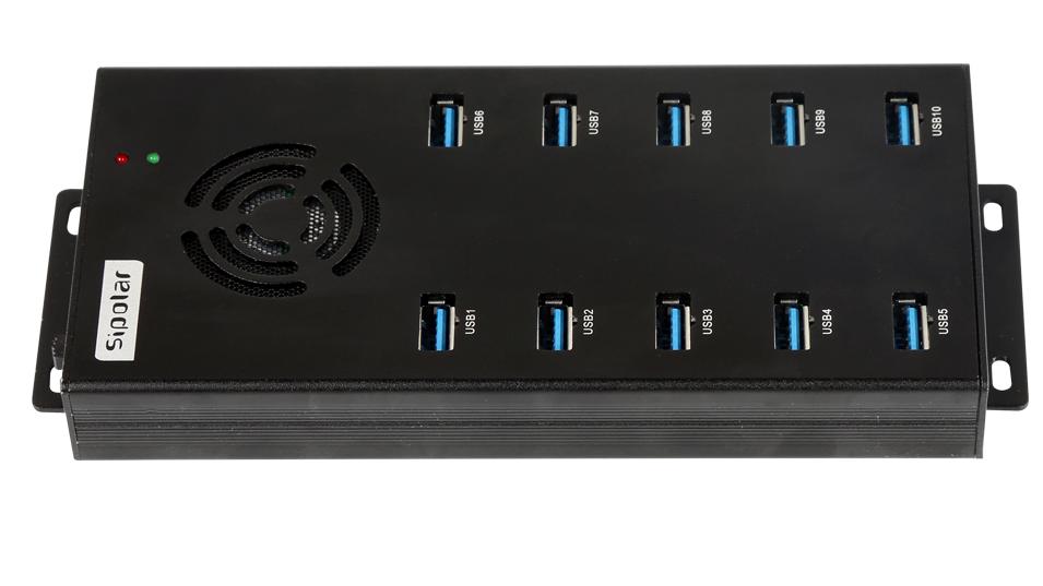 Módulo 10 Sipolar hub USB multi carregador porta com ventilador de refrigeração on/off interruptor para ipad iphone mac tablet e gabinete de carregamento