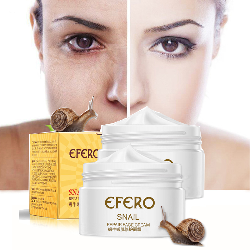 Skin Care Anti Wrinkle Anti Aging Moisturizing Nutrition Repair Collagen Efero Snail Face Cream