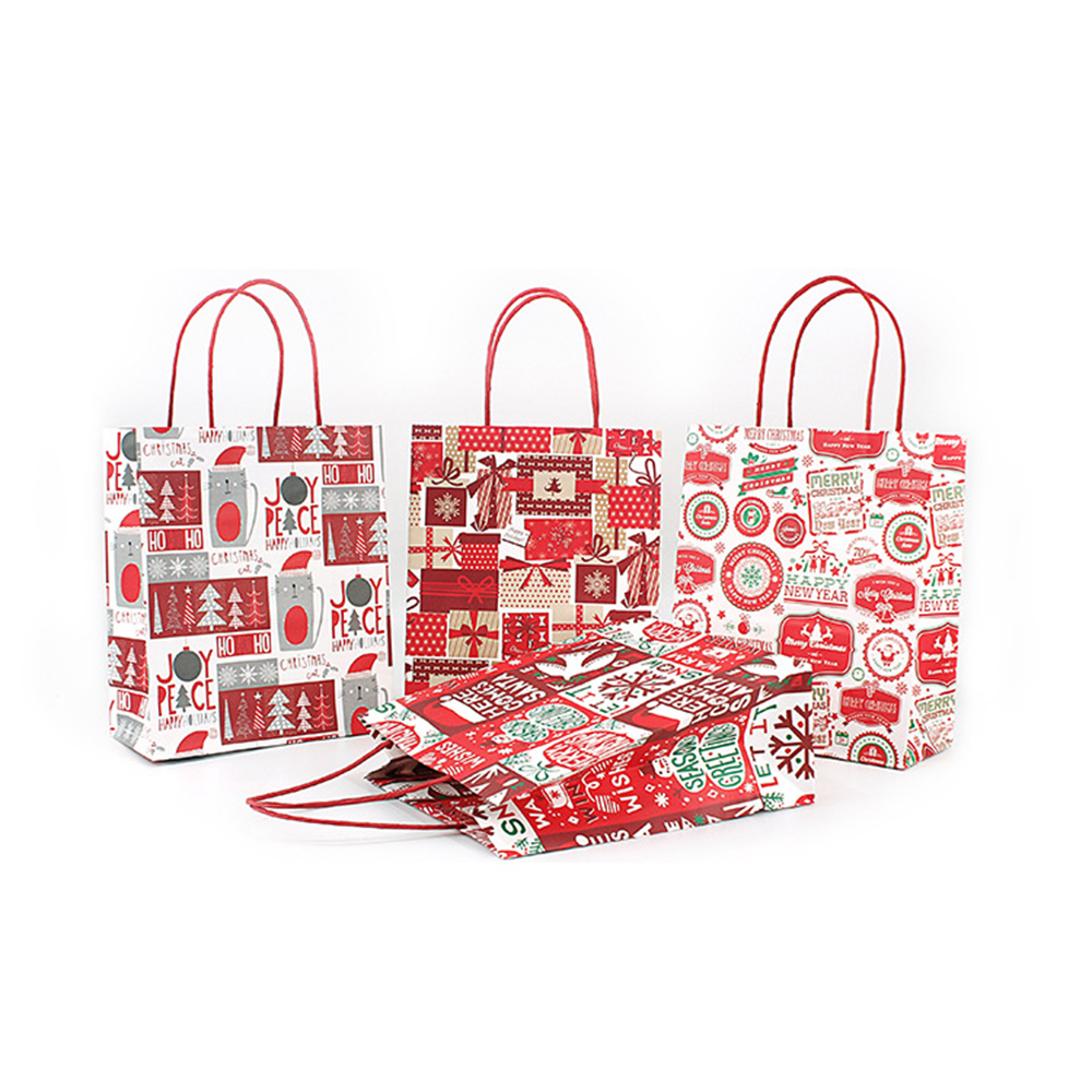 Christmas craft paper bag for gifts