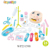 popular modern kitchen toy set music and light function plastic big kitchen toys for girls
