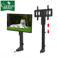 Long Stroke Electric 32~70 Inch Lcd TV Lift Automatic Remote Control TV Stand Modern