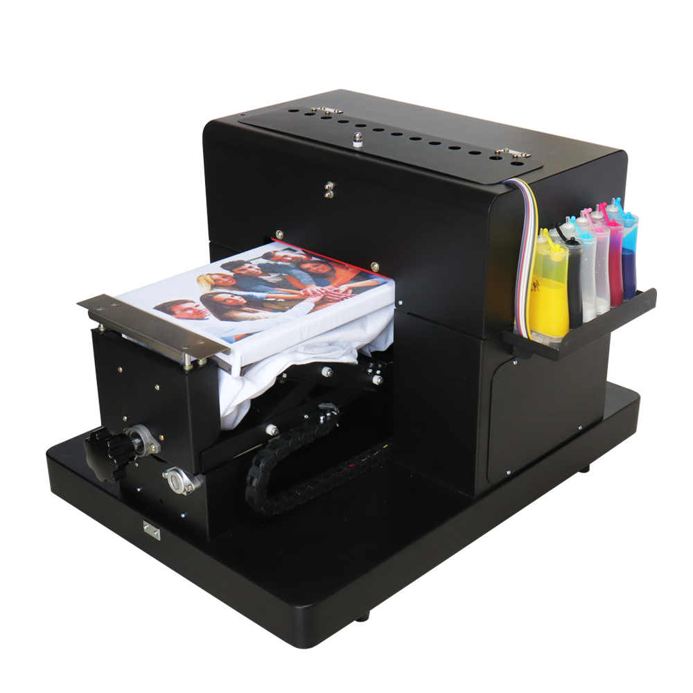 Flatbed <strong>printer</strong> A4 size DTG <strong>printer</strong> for T-shirt phone case printing with lowest price and high quality