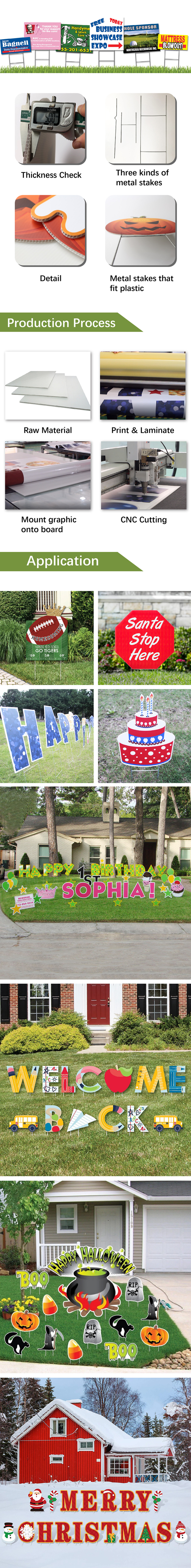 Happy Birthday Yard Signs with Stakes, 16 inch Colorful Letters and Star Balloons, for Birthday Party Outdoor Decorations