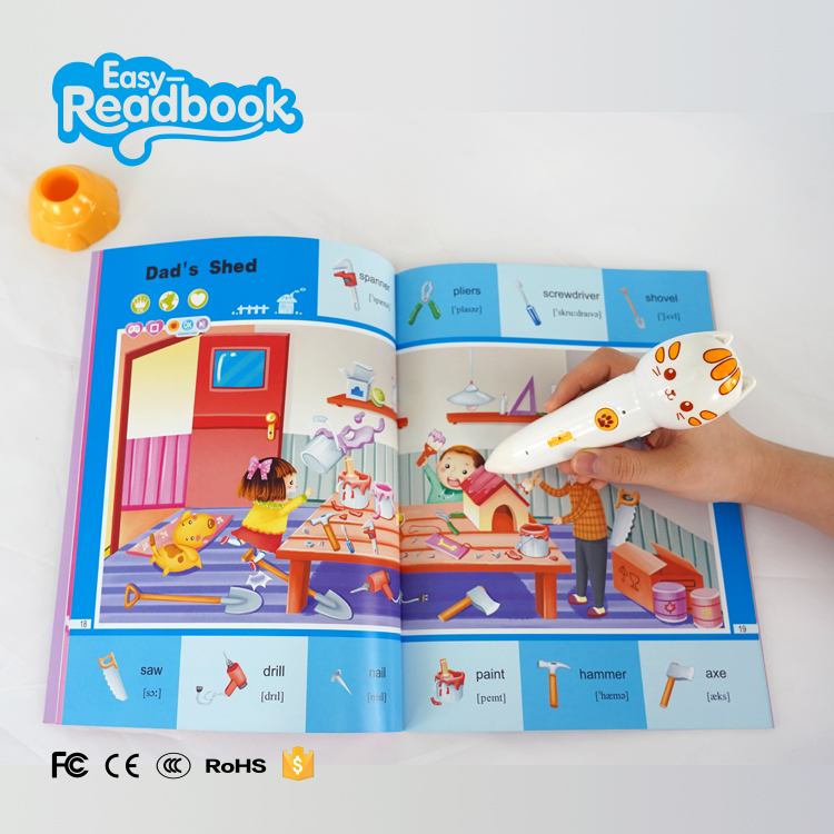 Learning machine book reader pen smart talking pen for kids learning language