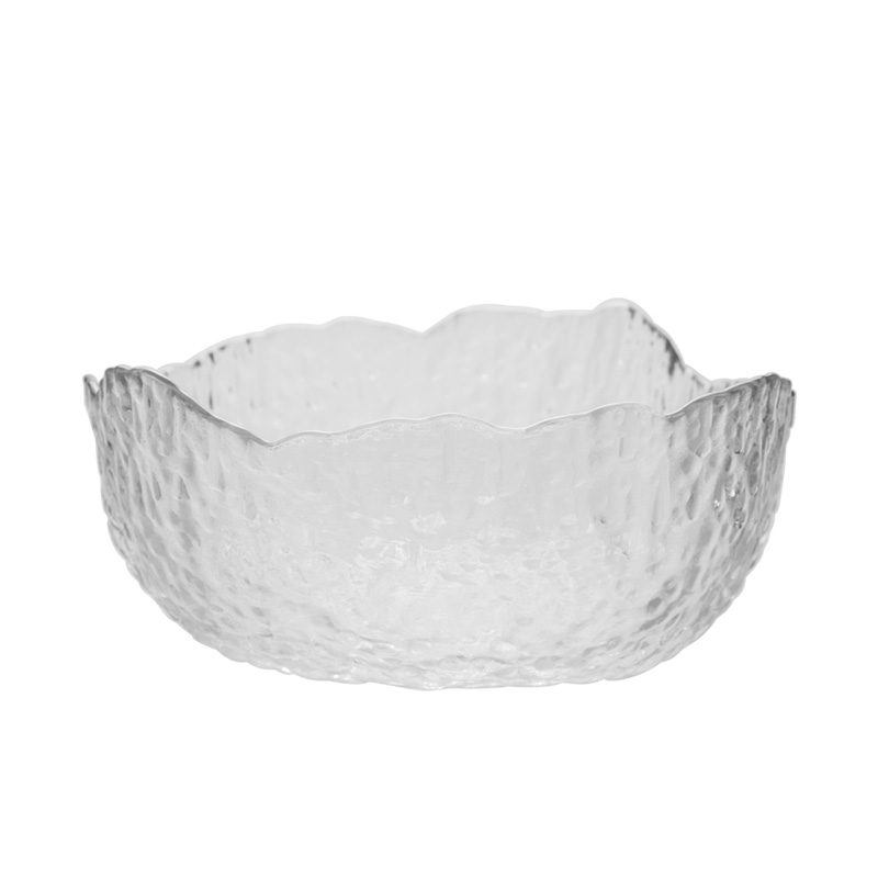 The latest design irregular shape glass salad mixing bowl for restaurant