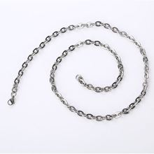 China Fabriek Groothandel Top Trend 6 mm Breedte 316L Rvs Plain <span class=keywords><strong>Omega</strong></span> Chain Bangle Armband Choker Ketting Sieraden Sets
