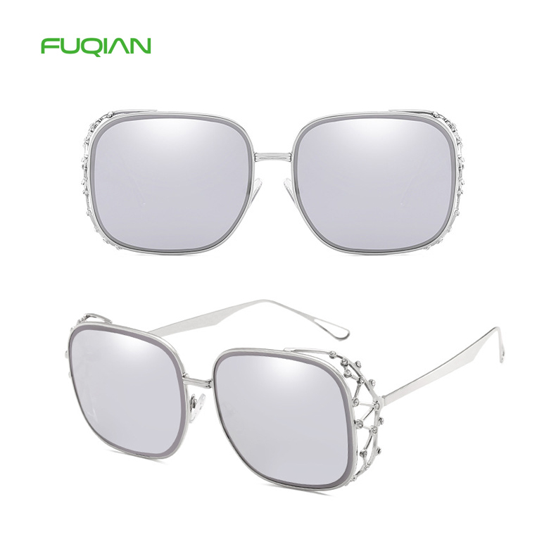 Colorful Shallow Diamond Crown Designer Oversized Women Ladies Eyewear