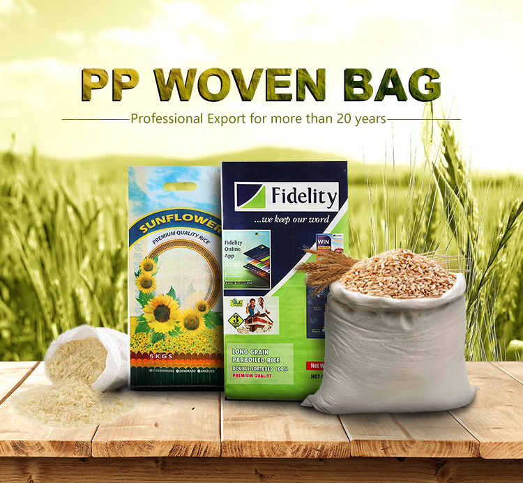 2018 New Arrival 5KG Net Weight Grain Bags Packaging Woven Rice Sacks