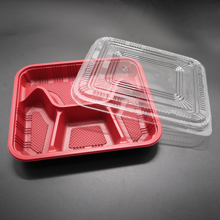 Wholesale China made disposable PP plastic lunch box fast food with lid