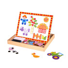 TOOKY TOY Magnetic Puzzle - Shapes Learning Gift Wooden Toys For Kids