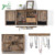 Wood Rustic Wall Mounted Jewelry Organizer With Wooden Barn Door