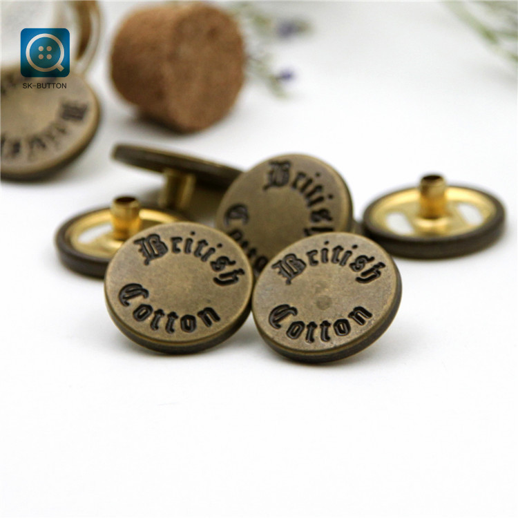 2019 Custom copper Metal Press spring Snap Button for Clothing Leather Handbag