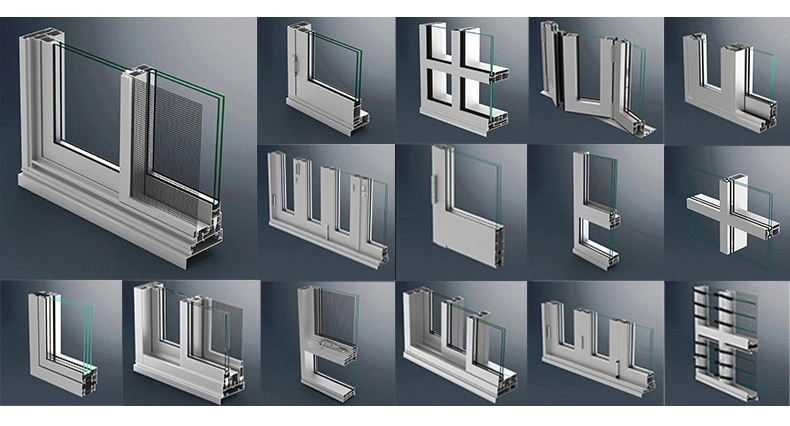 New design Miami Dade approved aluminum casement hurricane impact windows