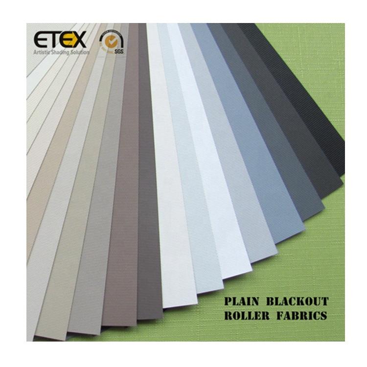 ETEX Blackout/Daylight Plain Roller Blinds Fabric