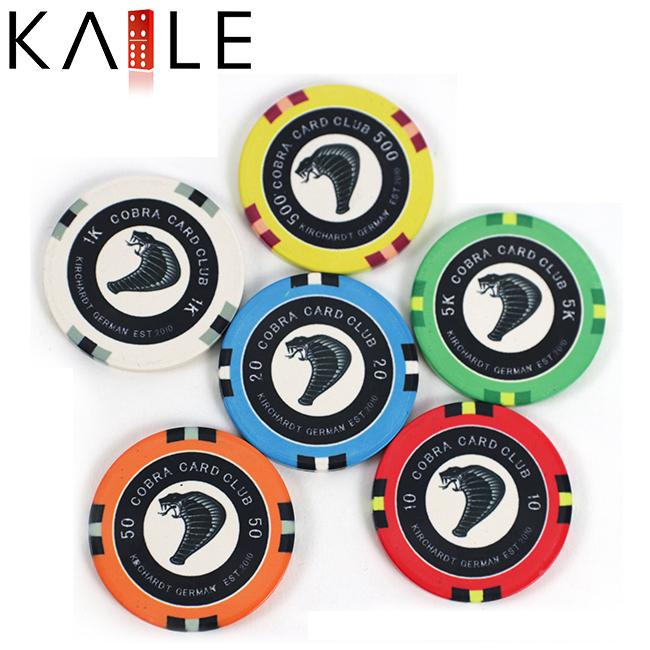 Kaile brand custom made ceramic poker chips 10g ceramic poker chips europe
