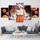 Home Decor 5 Piece Canvas Art Dragon Ball Modern Wall Kids Room Anime Goku Picture Artworks Home Decor Printed Popular Posters