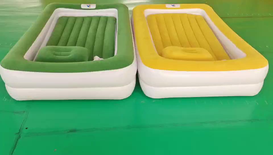 고품질 풍선 침대 맞춤형 휴대용 여행 침대 풍선 pvc 유아 공기 침대