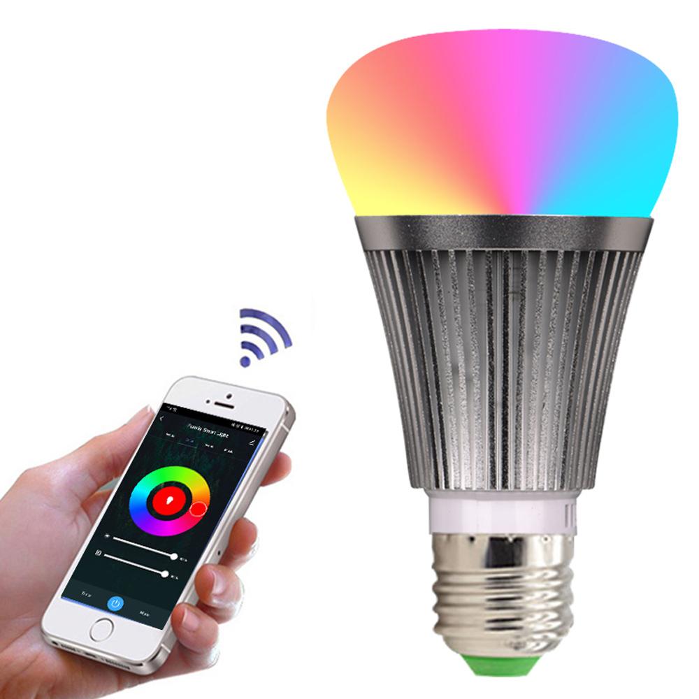RGBCW Smart Light Bulb Dimmable E27 B22 WiFi LED Magic Lamp AC 110V 220V Work with Alexa Google Assistant WIFI Bulb