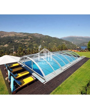 5 x 10 Sliding DIY polycarbonate swimming pool enclosure