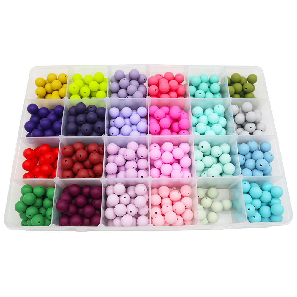 Wholesale Bulk BPA Free Food Grade Baby Chew Soft Silicone Teething Beads For Jewelry Making