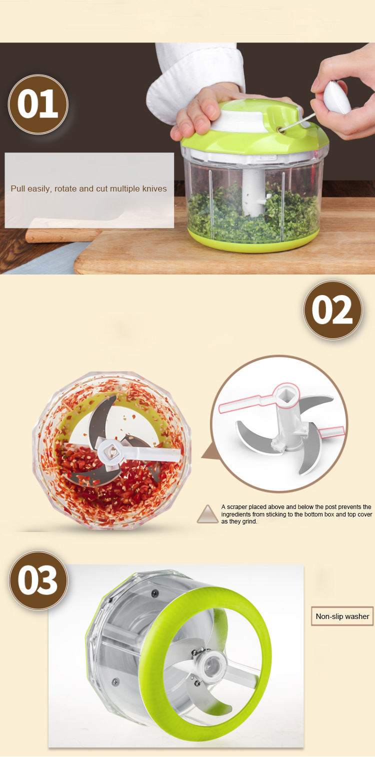 Meat grinder cutter manual spiral kitchen accessories tools vegetable slicer chopper for home restaurant hotel