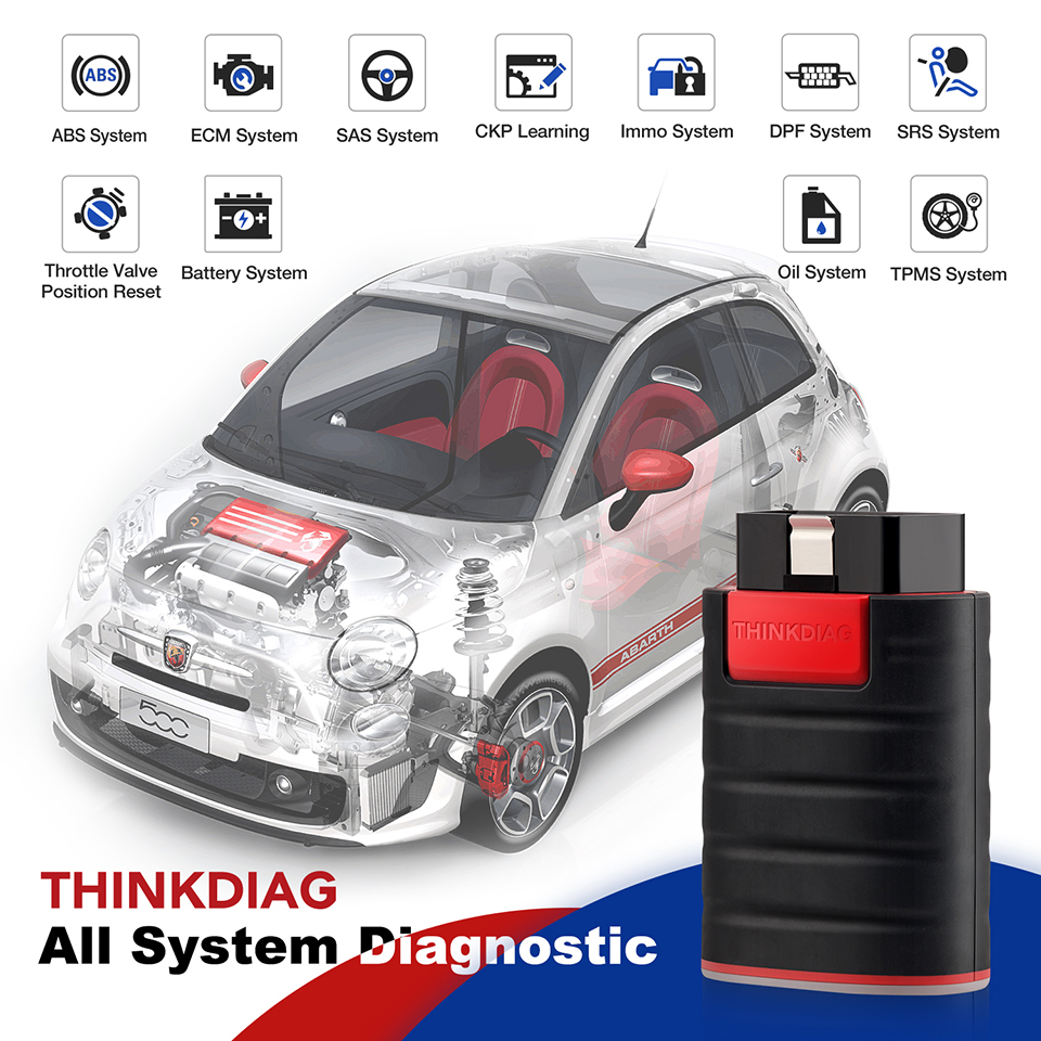THINKDIAG ThinkDiag obd2 Code Reader Scanner all system BT Android IOS diagnostic tool pk EasyDiag AP200