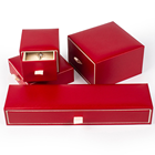 Wholesale stock enthusiasm red black Jewellery Packaging Gift Plastic Sliding Jewelry Drawer Box