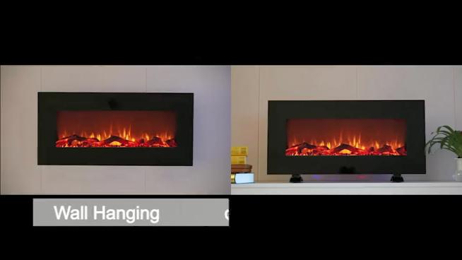 22 inç ısıtıcı dekorasyon elektrikli şömine ucuz küçük boyutlu duvara monte şömine