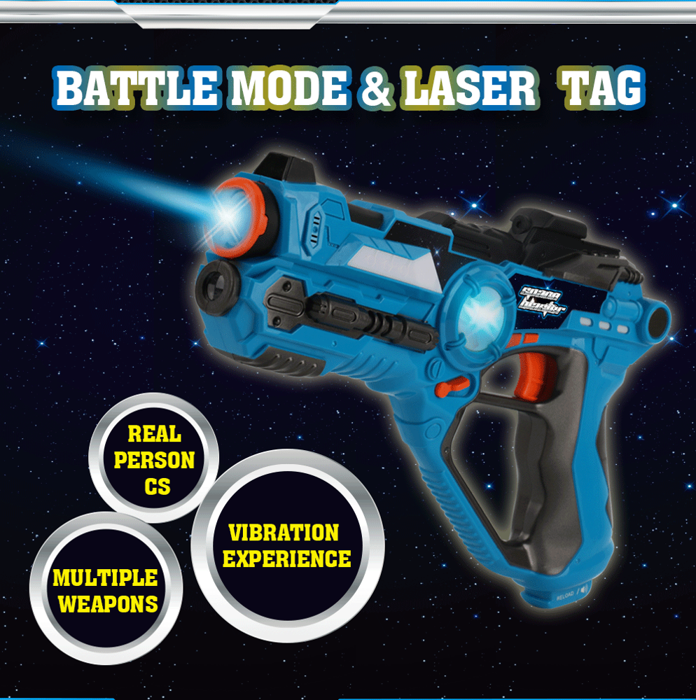 DWI Dowellin Battle Shot Laser Game Gun Set Vest Laser Guns Tag for Sale