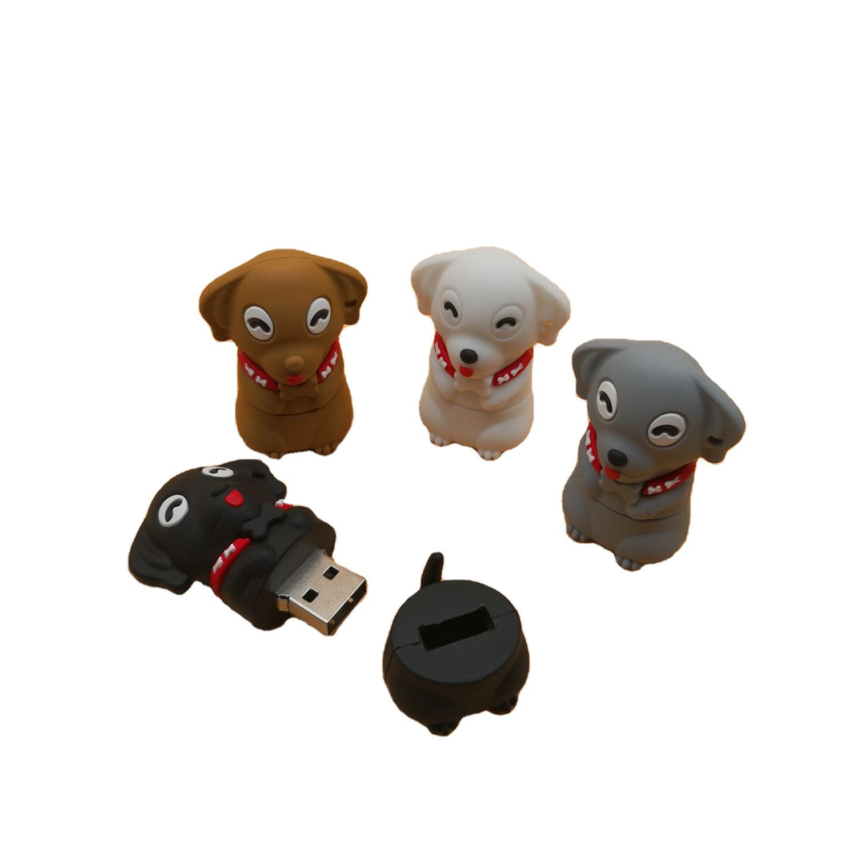 2.0 U Disk Flash Memory PVC Cartoon Animal Pen Drive Doggie Usb Stick Flash Model Customization Drive Pendrive