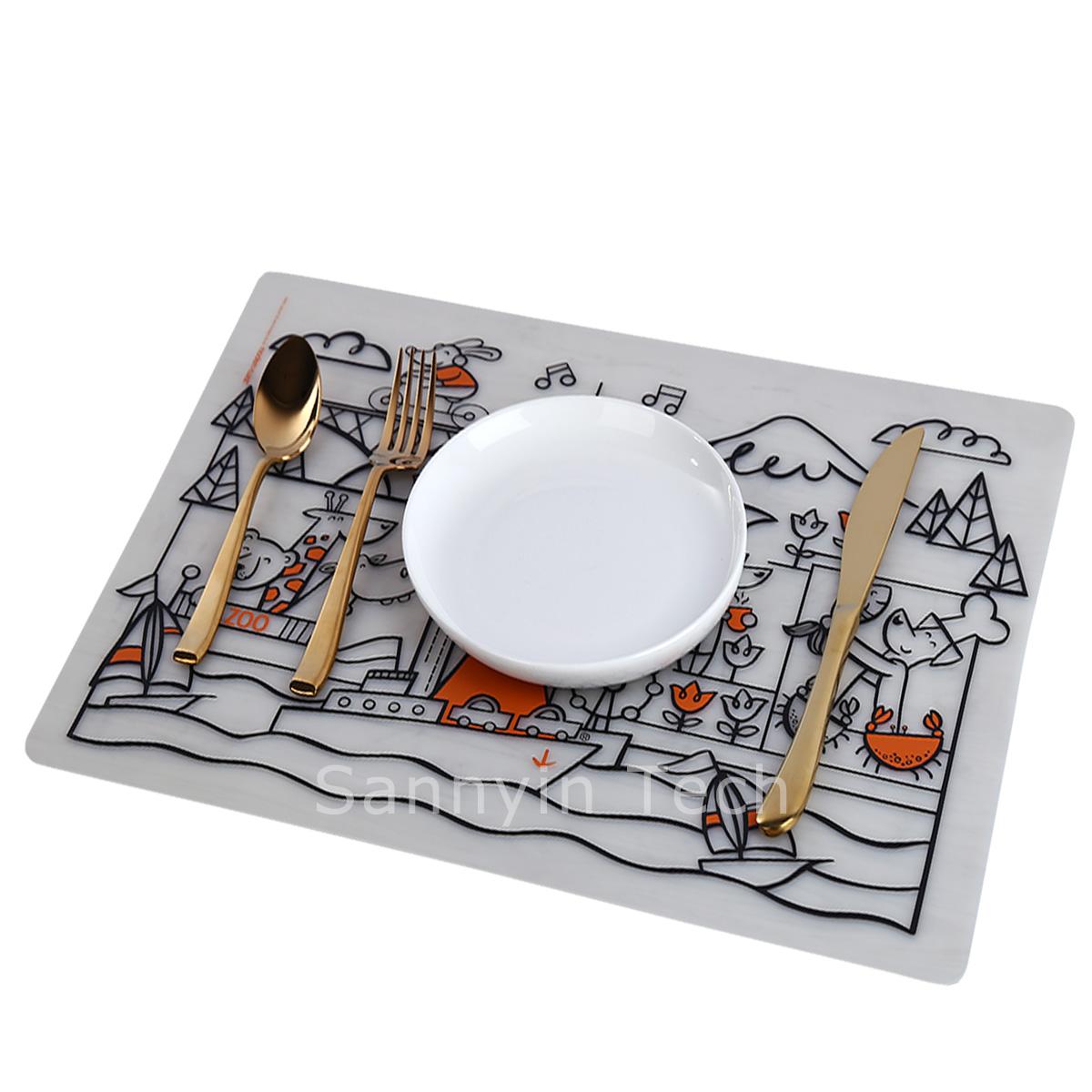 Utensilios de cocina de silicona a prueba de agua niños lavable para colorear mantel de silicona bebé niños Navidad mantel