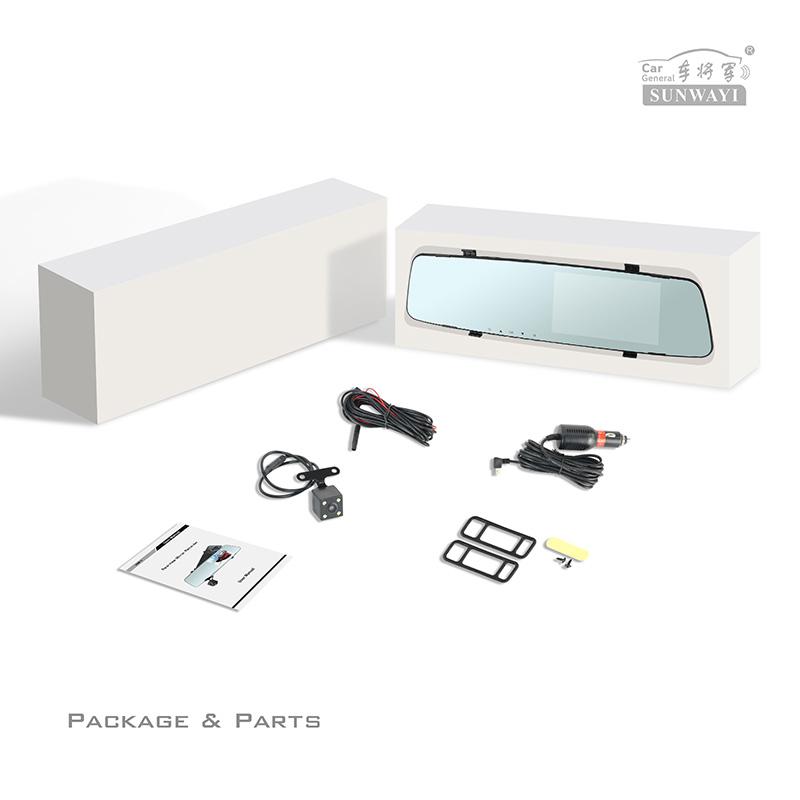 2020 Factory Wholesale 4.3'' 1080P car dash cam dual record wifi dash camera car black box for car rearview mirror dvr
