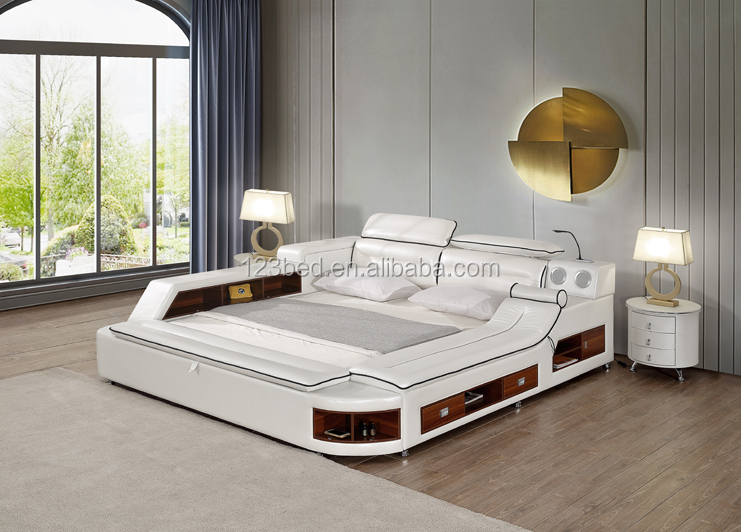 Luxury Modern Bedroom Furniture Massage Double Bed Design With Storage A635 View Luxury Bedroom Furniture Suiying Product Details From Foshan City Hong Sui Xiang Furniture Co Ltd On Alibaba Com