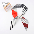 Hot selling custom company logo long women chiffon lurex scarf