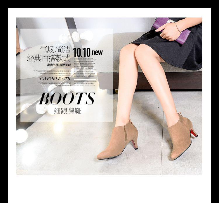 สั้นข้อเท้าผู้หญิงต้นขารองเท้าส้นสูง Stiletto สุภาพสตรีขายของแท้หนังผู้หญิงรองเท้าผู้หญิงฤดูหนาวรองเท้าบูท
