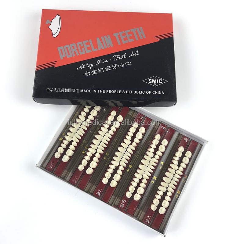Volle Medizinische Legierung Pin Porzellan Zähne Setprothesesynthetische Harz Falsche Zähnezahn Für Labor Buy Porzellan Zähne,Acryl Zähne,Harz