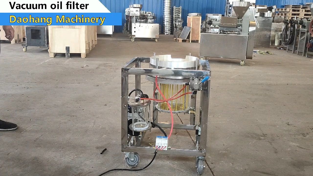 Vacuum filter used cooking oil filtration deep fry oil filter machine