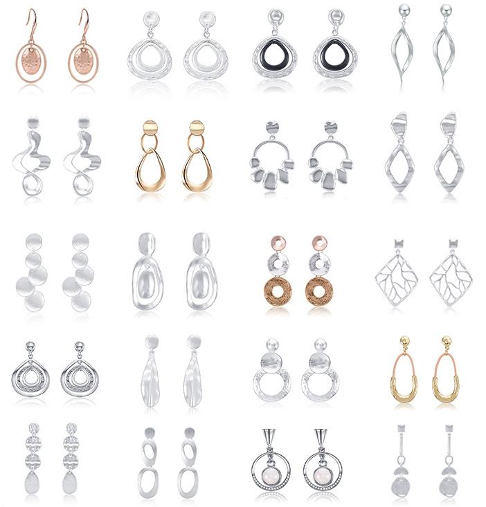 20 쌍 모듬 스테인레스 스틸 스터드 귀걸이, 기하학 패턴 작은 성명 스터드 귀걸이 세트, earings 2019