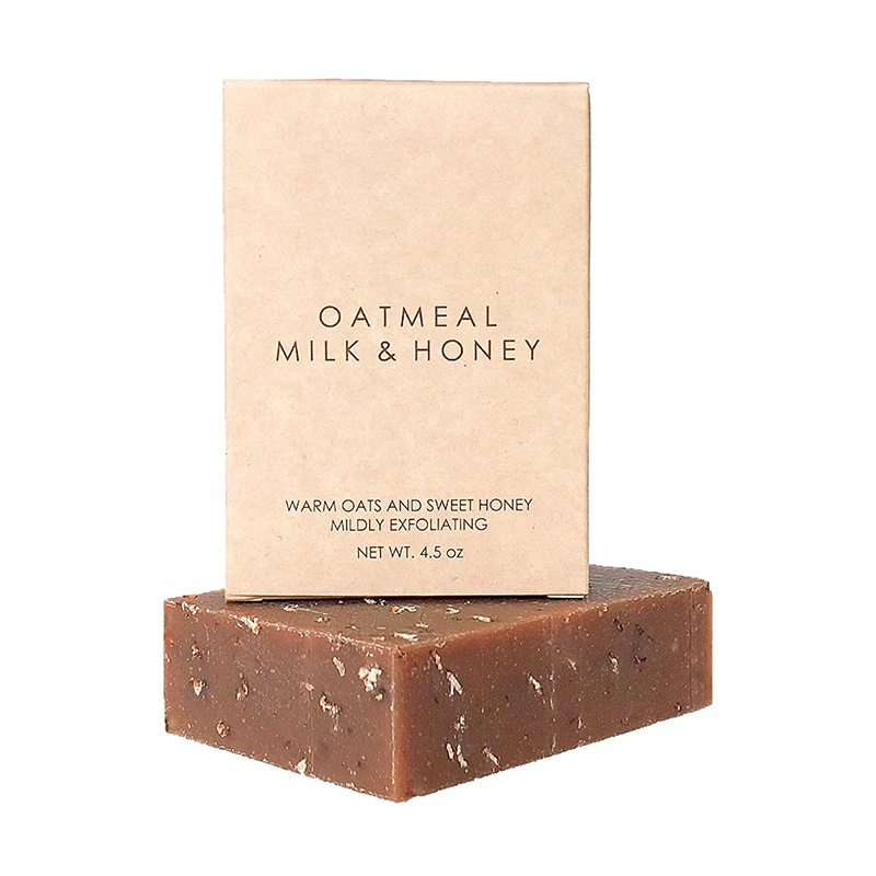 Amazon Private label Oatmeal Soap with organic raw honey Goat milk organic shea butter face &body soap Exfoliating Soap 4oz