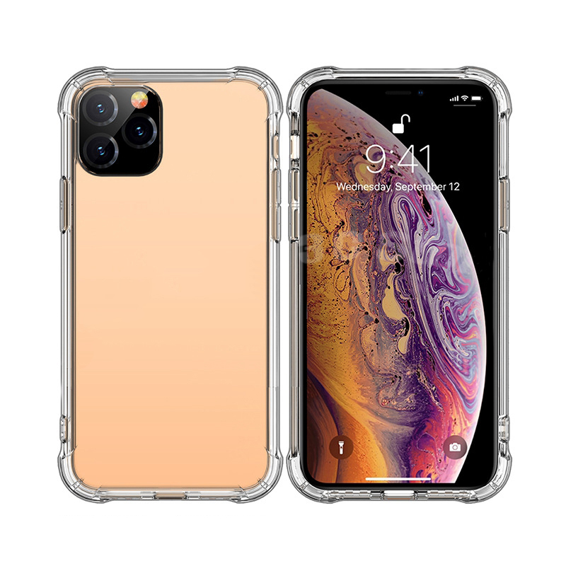 Anti-knock Soft TPU Transparent Clear Phone Case Protect Cover Shockproof Soft Cases For iPhone 11 pro <strong>max</strong> 7 8 plus X XS