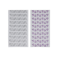 Wholesale Fashion Design Glitter Alphabet Letter Vinyl Waterproof Stickers